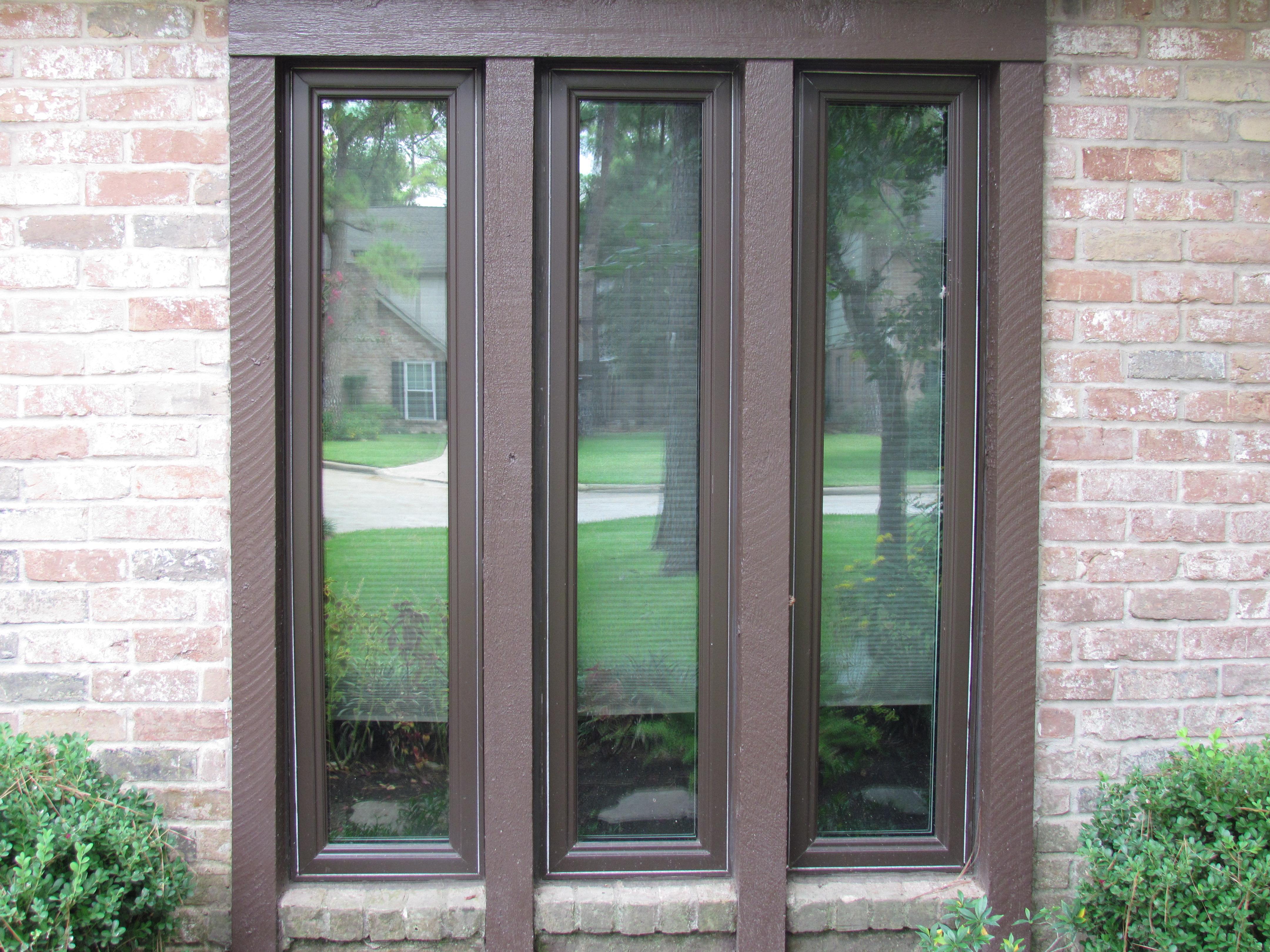 Bronze Vinyl Casement Windows