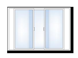 3-lite slider window
