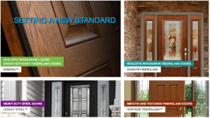 Entry replacement doors