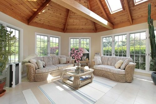 Beautiful Sun Room with New Replacement Windows