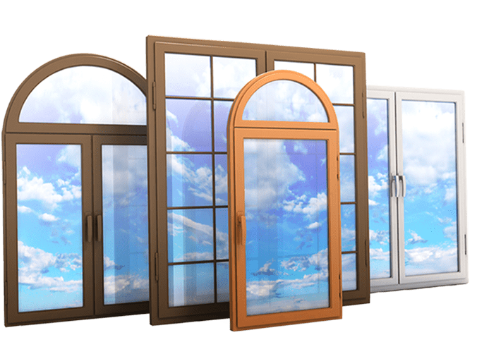 Four different replacement window style options