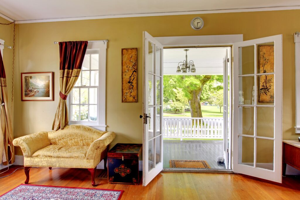 Glass Pane French Doors