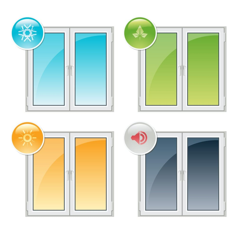 Window Diagram for efficiency Options - Thermal Insulation, Noise Reduction, and Recyclability