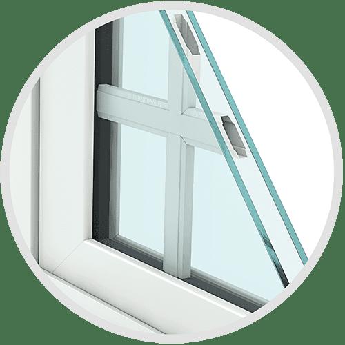 Corner Contoured Grid Replacement Window