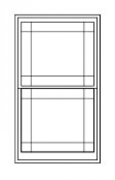 Double/Single Hung Replacement Window Diagram