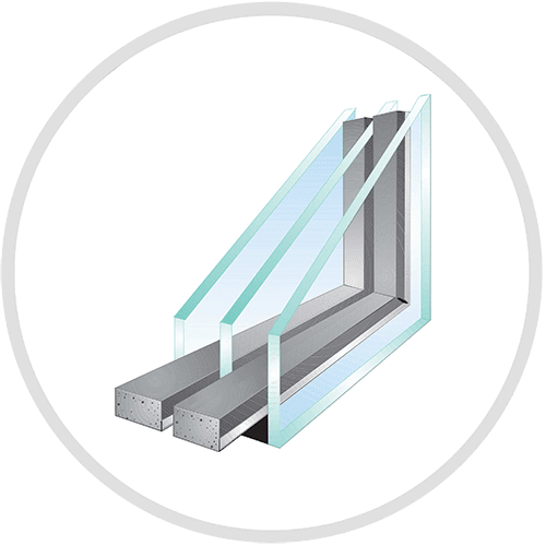 Diagram of a Triple-Glaze with Super-Spacer for Replacement Windows