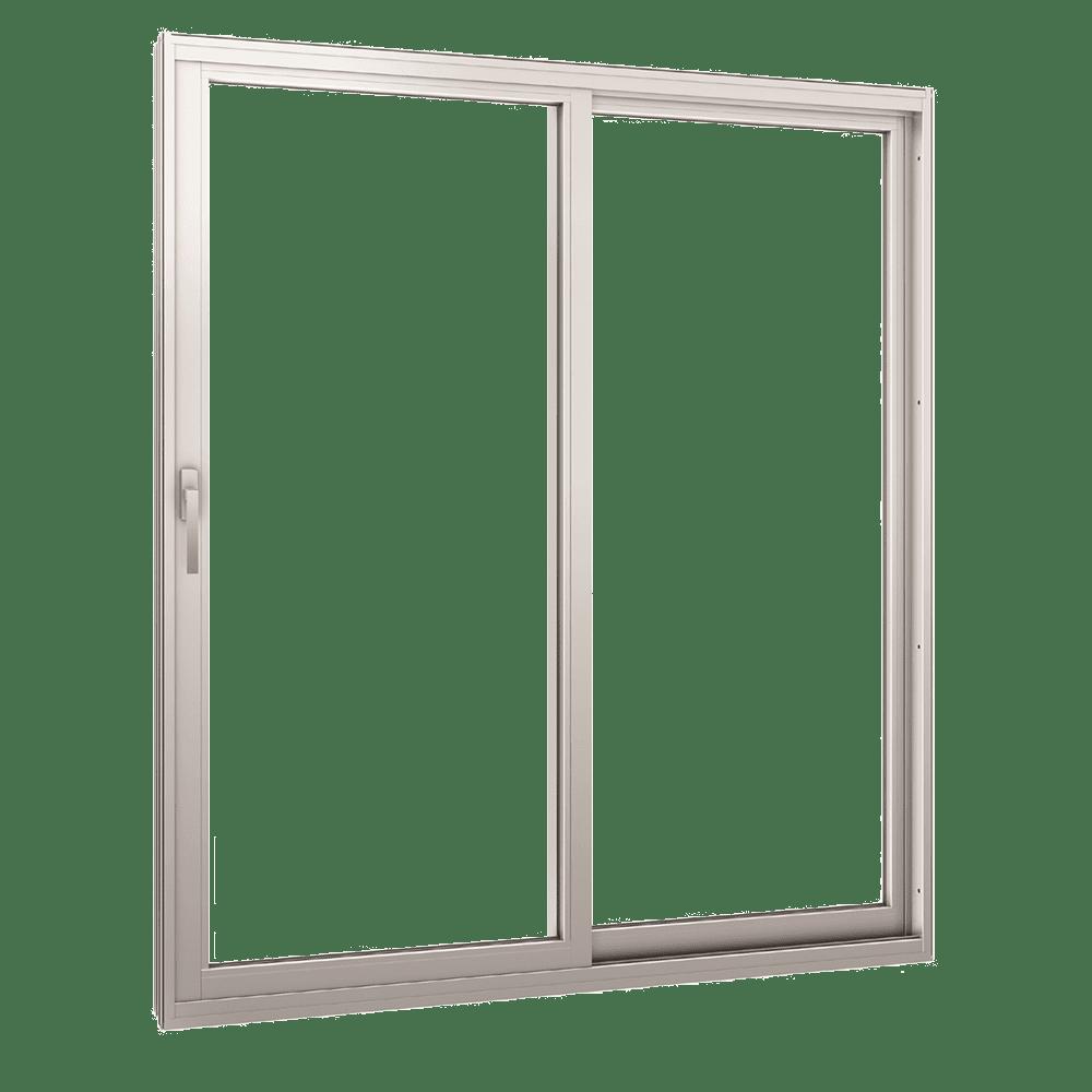 White Texas-Made Glass Sliding Doors