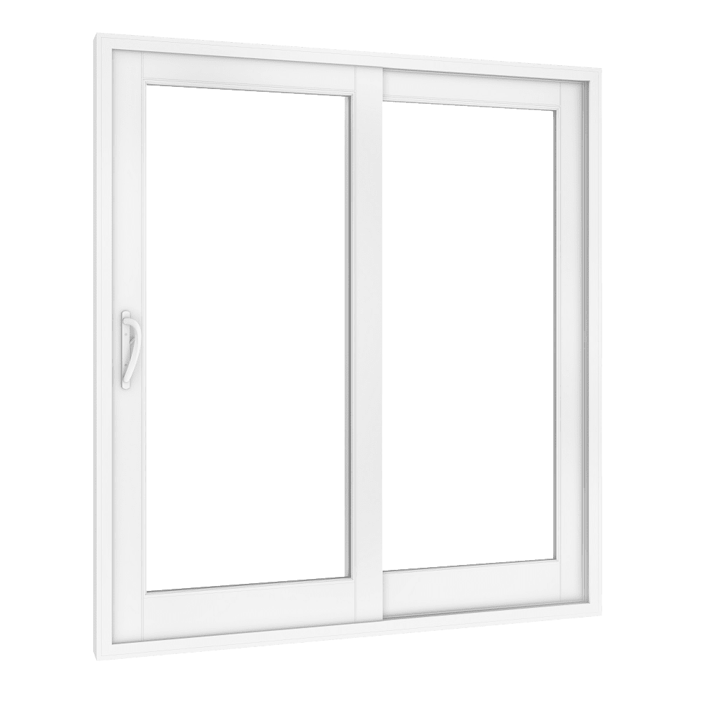 White Texas-Made Glass Sliding Doors