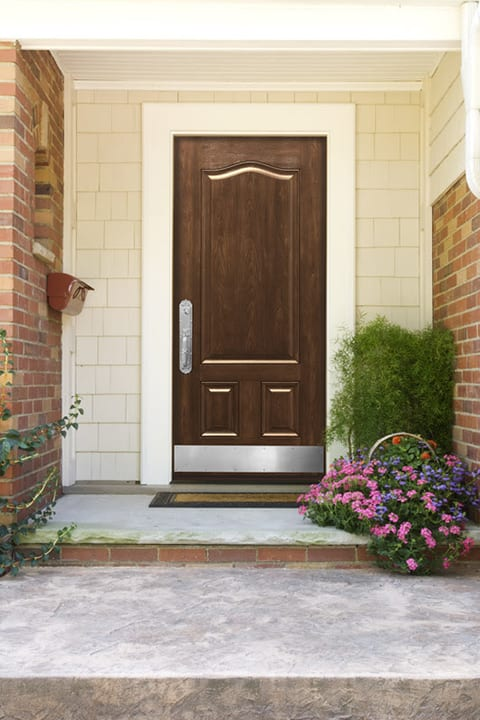 Texas-Made Replacement Door at the Entrance of a home